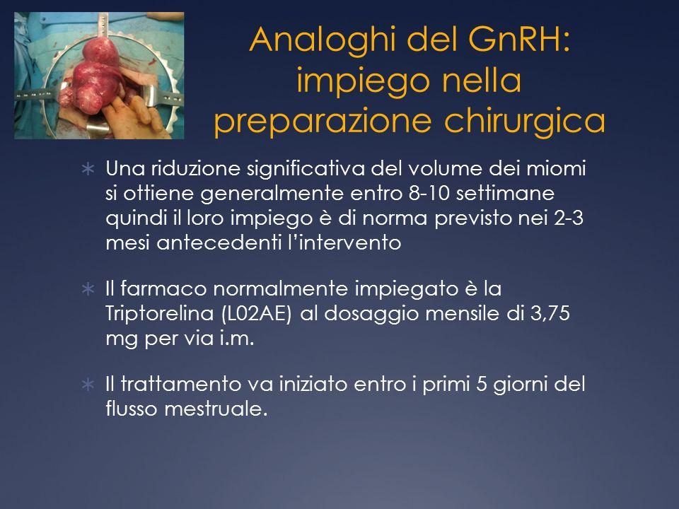 Analoghi del GnRH: impiego nella preparazione chirurgica