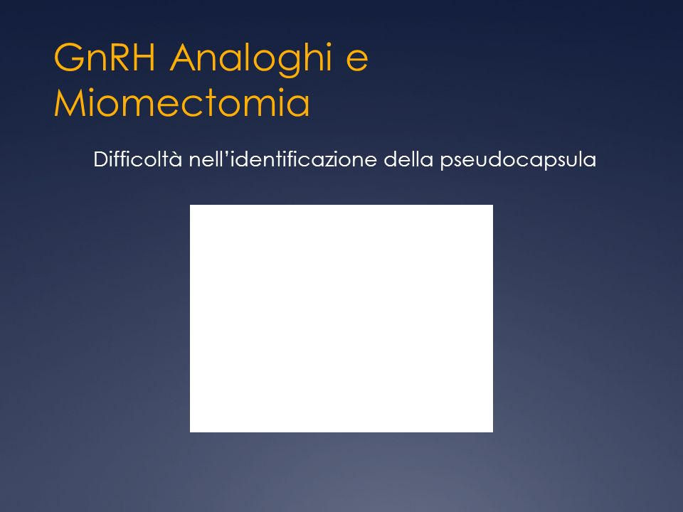 GnRH Analoghi e Miomectomia