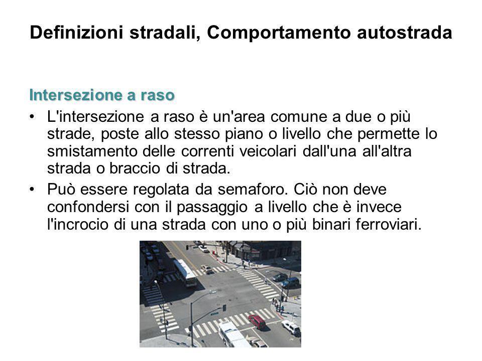 Definizioni stradali, Comportamento autostrada
