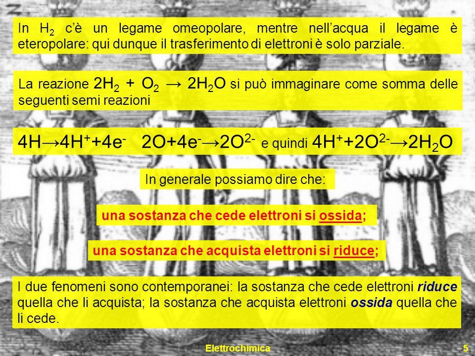 4H→4H++4e- 2O+4e-→2O2- e quindi 4H++2O2-→2H2O
