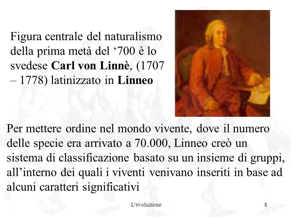 Figura centrale del naturalismo della prima metà del '700 è lo svedese Carl von Linnè, (1707 – 1778) latinizzato in Linneo