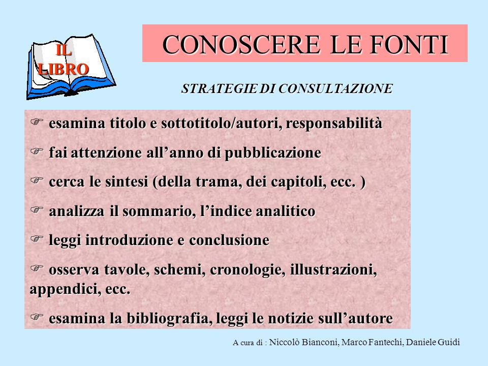STRATEGIE DI CONSULTAZIONE