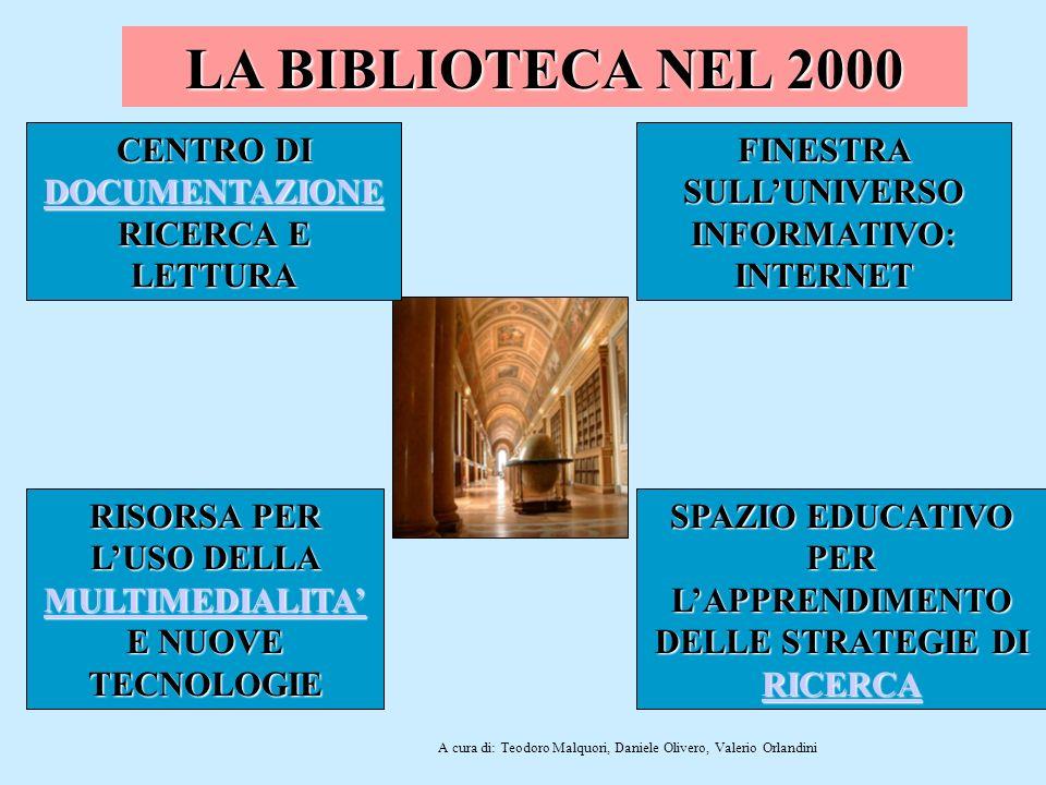 LA BIBLIOTECA NEL 2000 CENTRO DI DOCUMENTAZIONE RICERCA E LETTURA