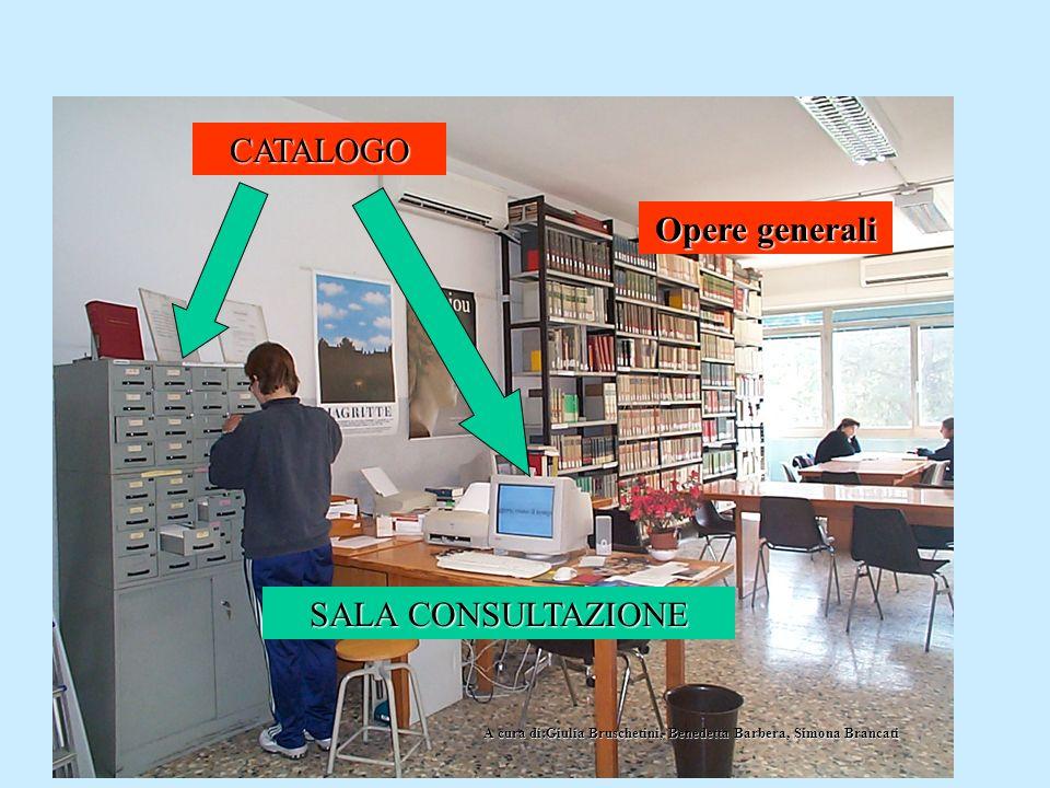 CATALOGO Opere generali SALA CONSULTAZIONE