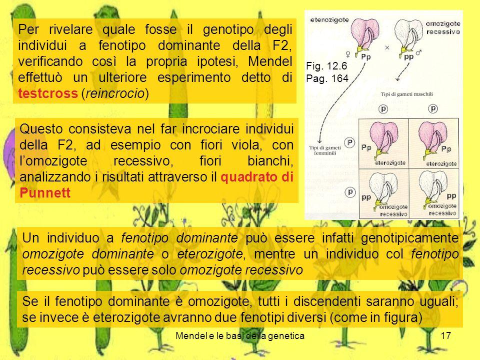 Mendel e le basi della genetica