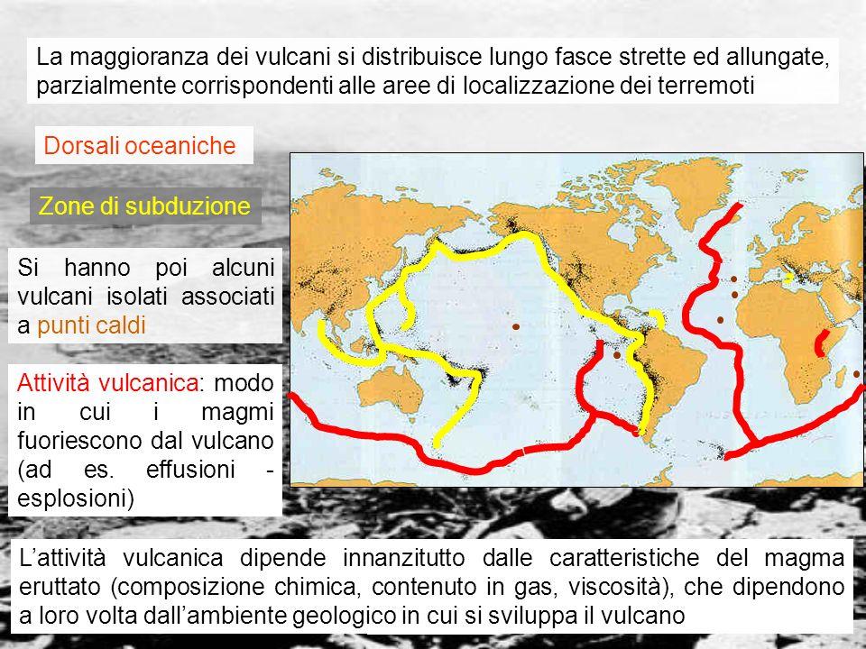 Si hanno poi alcuni vulcani isolati associati a punti caldi