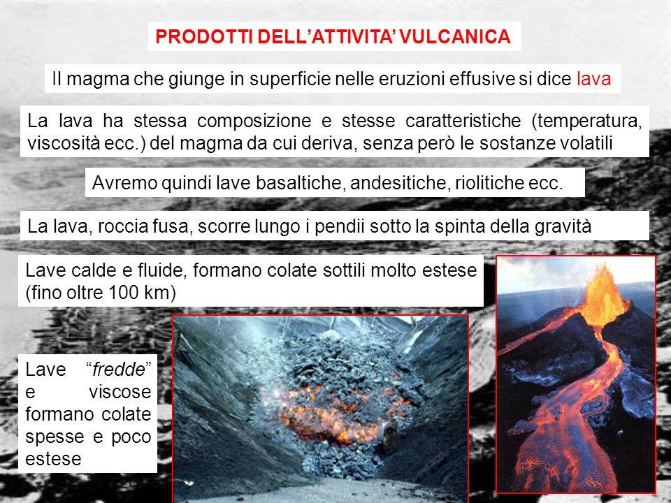 PRODOTTI DELL'ATTIVITA' VULCANICA