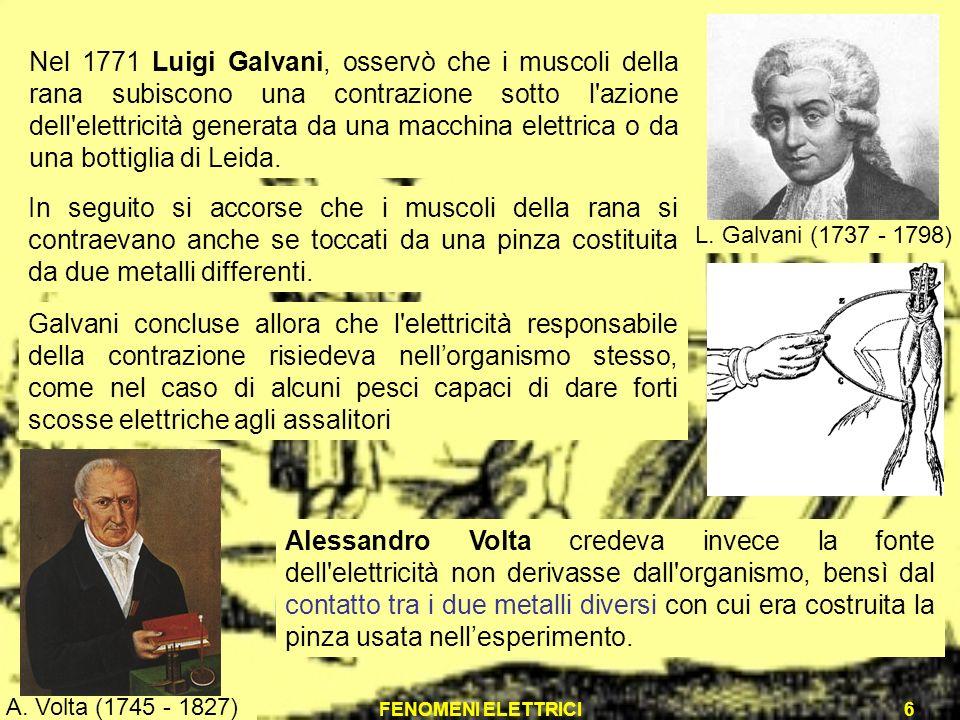 L. Galvani (1737 - 1798)