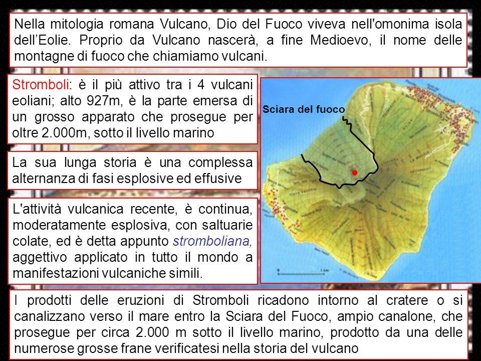 Nella mitologia romana Vulcano, Dio del Fuoco viveva nell omonima isola dell'Eolie. Proprio da Vulcano nascerà, a fine Medioevo, il nome delle montagne di fuoco che chiamiamo vulcani.