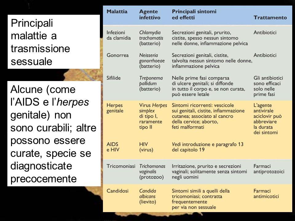 Principali malattie a trasmissione sessuale