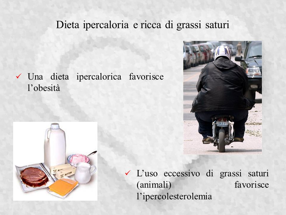 Dieta ipercaloria e ricca di grassi saturi