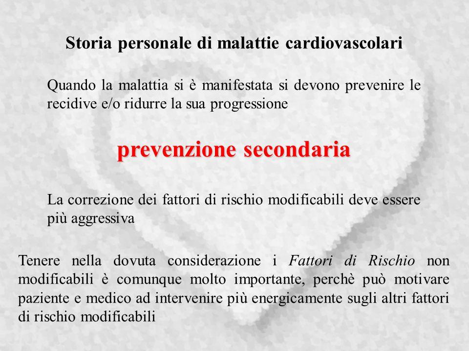 Storia personale di malattie cardiovascolari