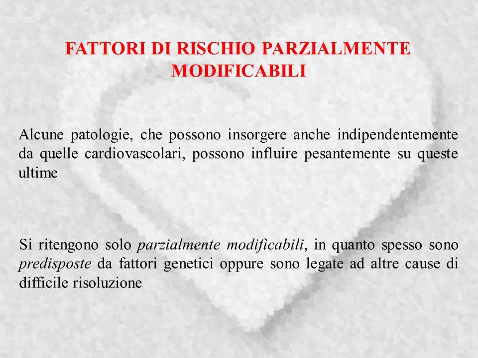 FATTORI DI RISCHIO PARZIALMENTE MODIFICABILI