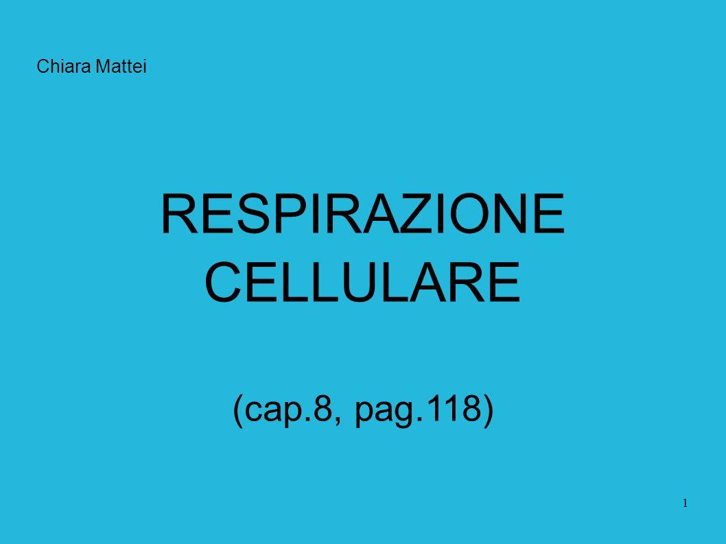 Chiara Mattei RESPIRAZIONE CELLULARE (cap.8, pag.118)