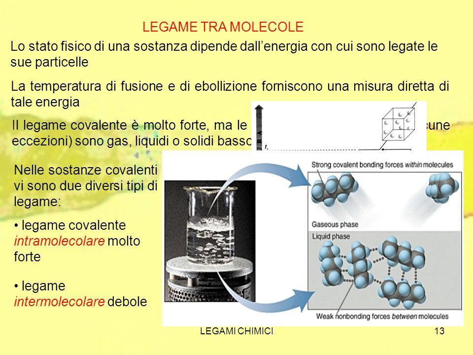 Nelle sostanze covalenti vi sono due diversi tipi di legame: