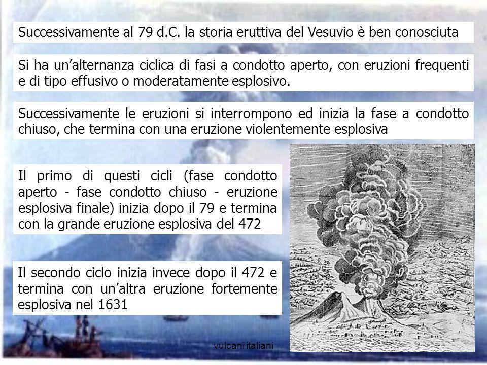 Successivamente al 79 d.C. la storia eruttiva del Vesuvio è ben conosciuta