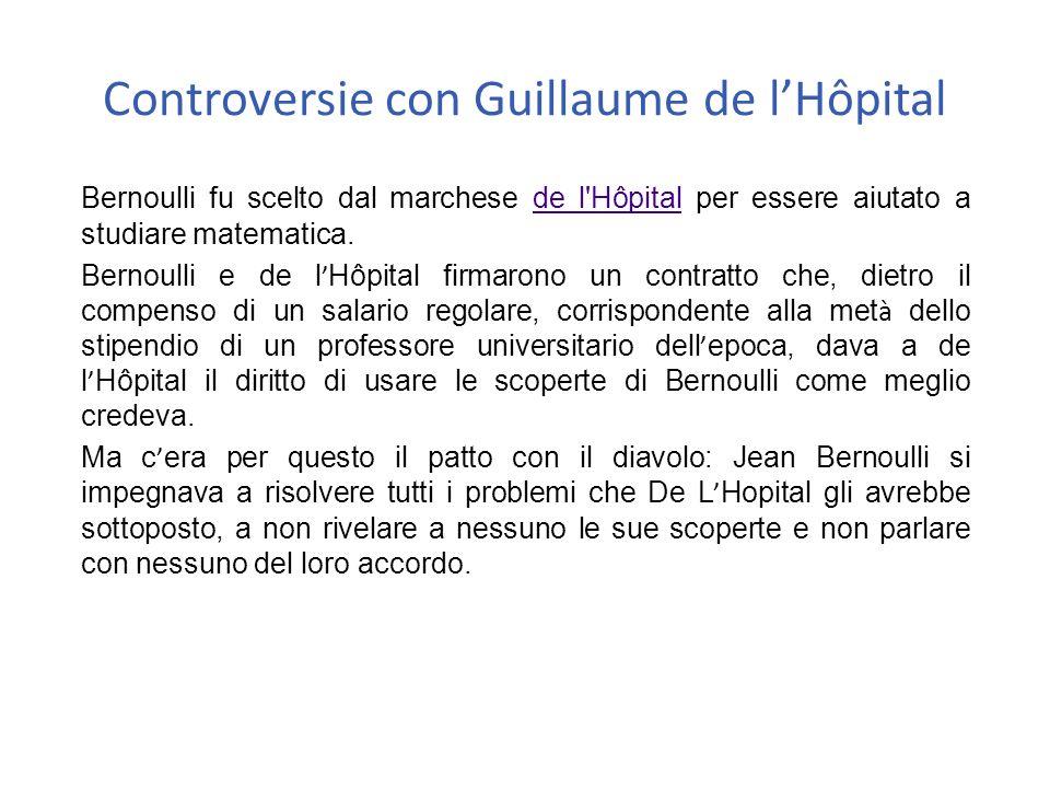 Controversie con Guillaume de l'Hôpital