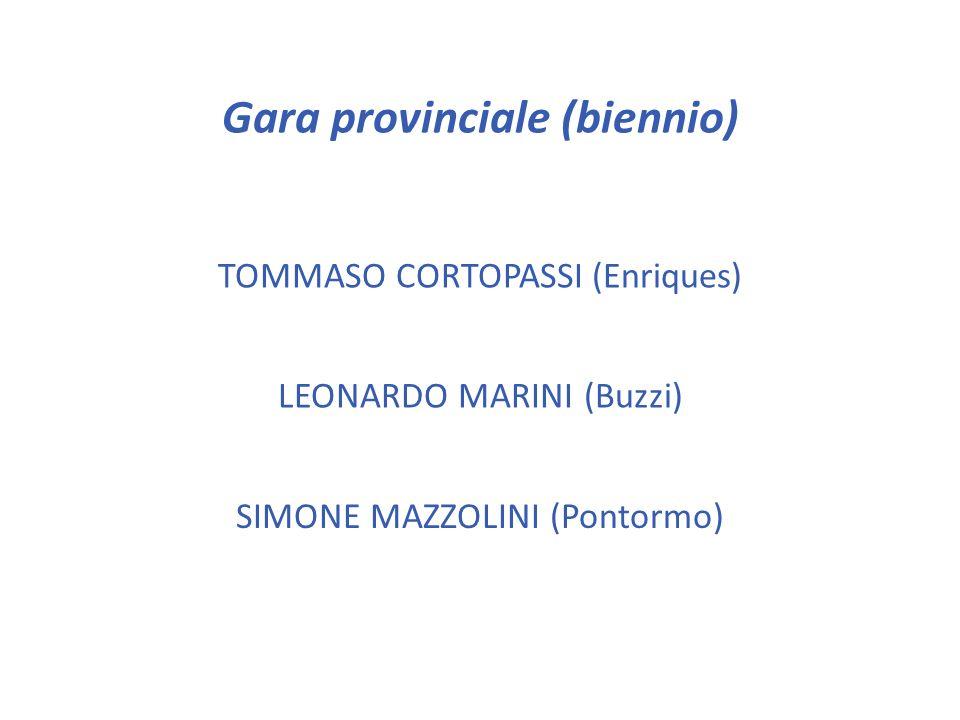 Gara provinciale (biennio)