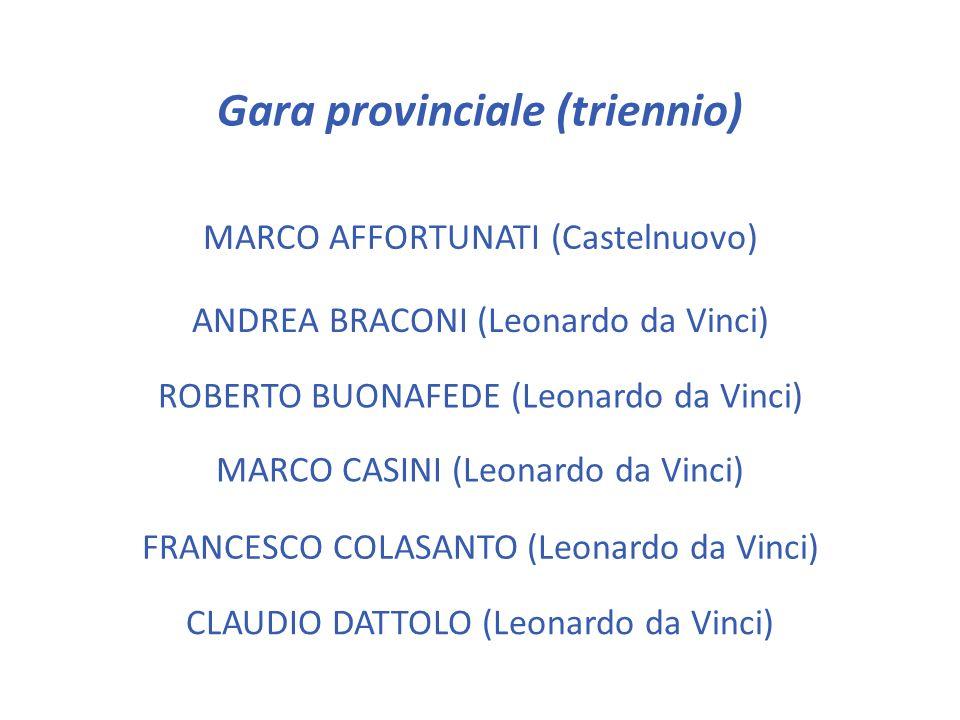Gara provinciale (triennio)