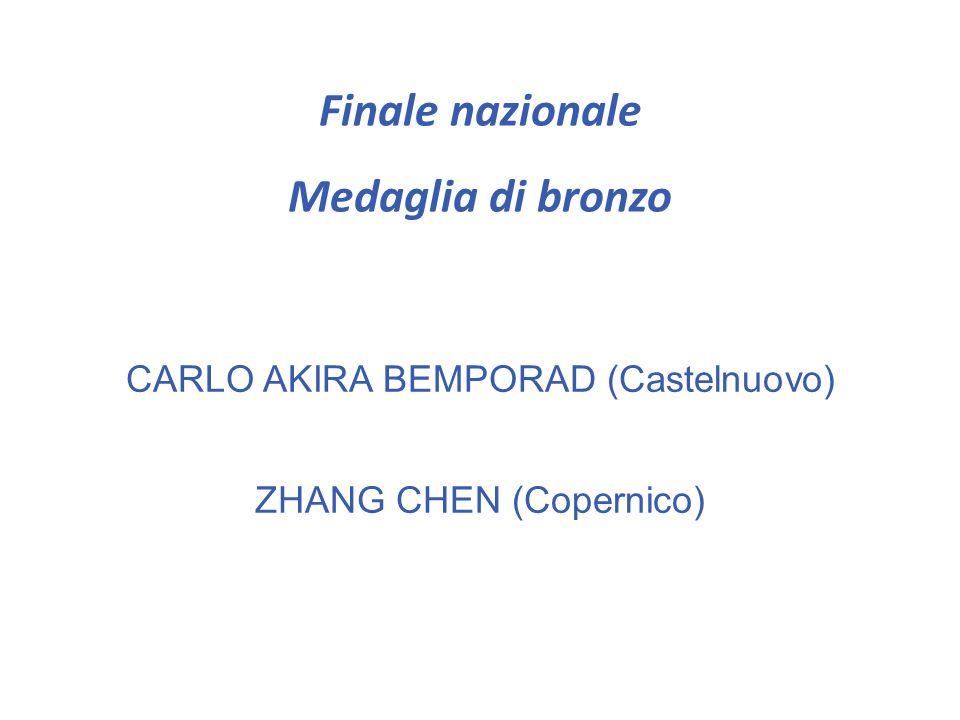 Finale nazionale Medaglia di bronzo