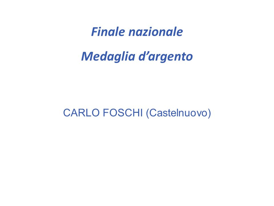 CARLO FOSCHI (Castelnuovo)
