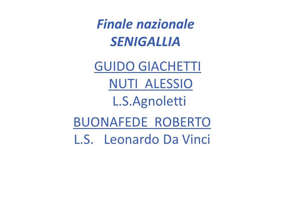 Finale nazionale SENIGALLIA