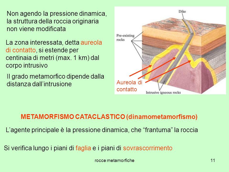 METAMORFISMO CATACLASTICO (dinamometamorfismo)