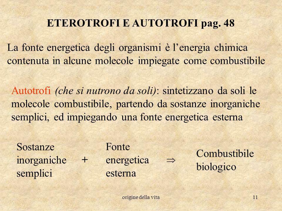 ETEROTROFI E AUTOTROFI pag. 48
