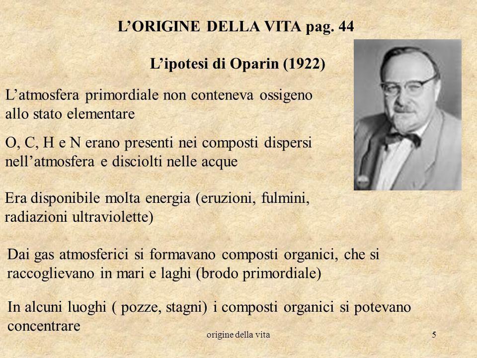 L'ORIGINE DELLA VITA pag. 44