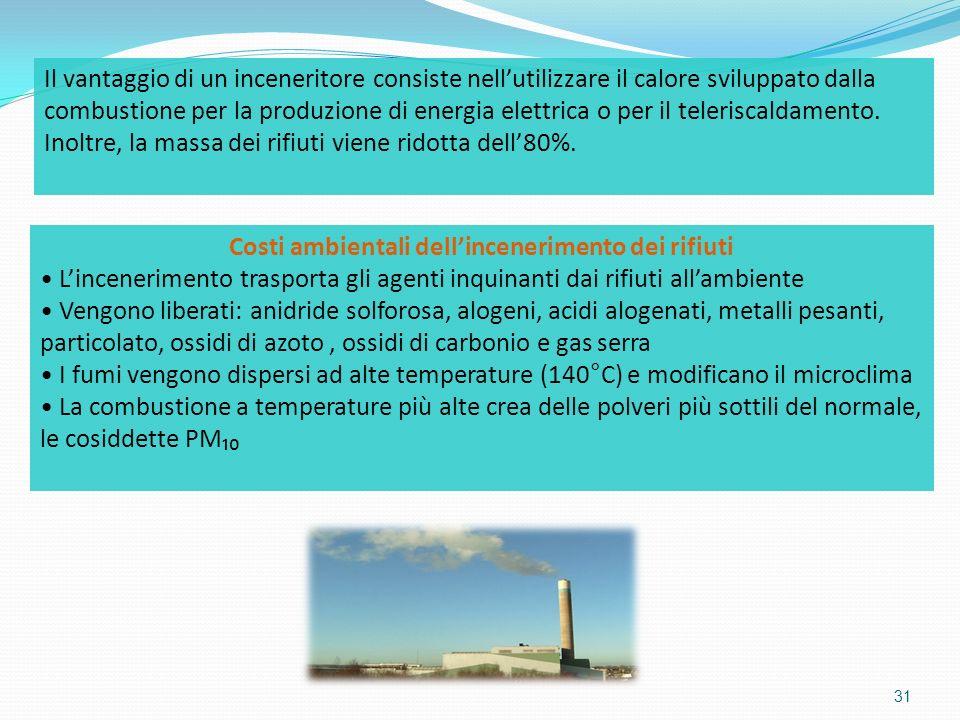 Costi ambientali dell'incenerimento dei rifiuti