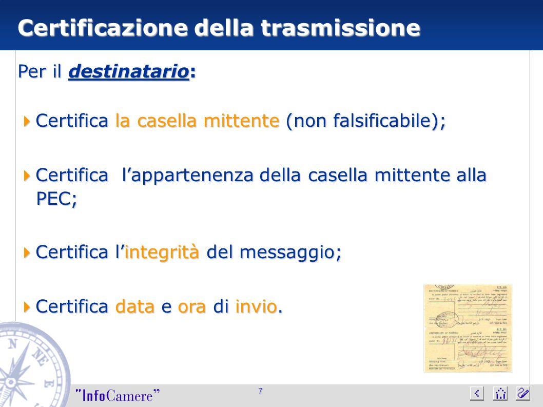Certificazione della trasmissione