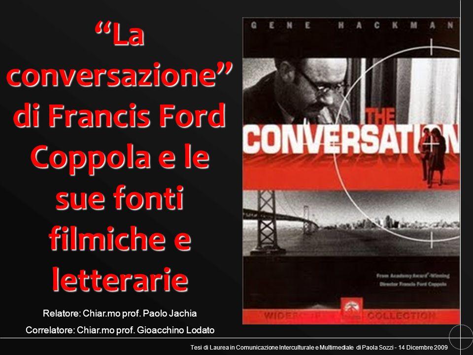 La conversazione di Francis Ford Coppola e le sue fonti filmiche e letterarie