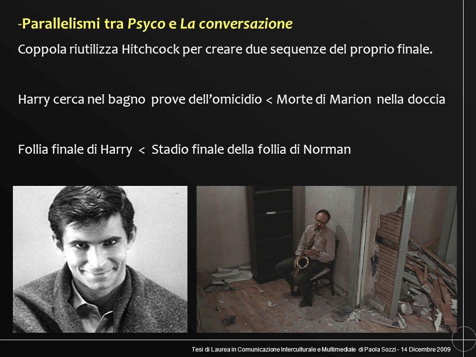 Parallelismi tra Psyco e La conversazione