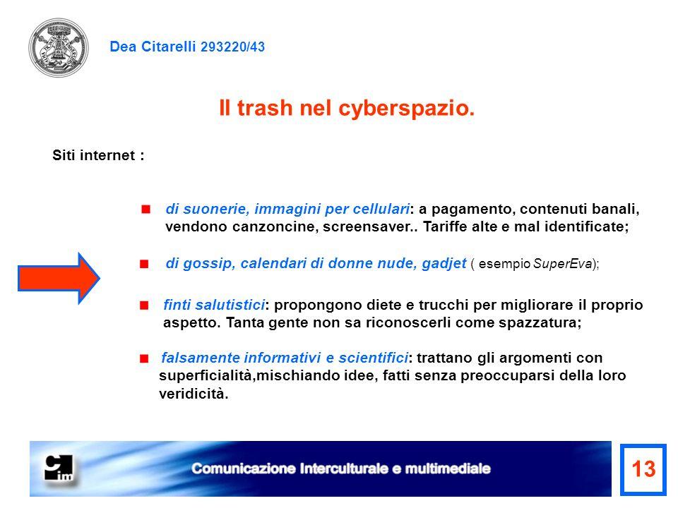 Il trash nel cyberspazio.