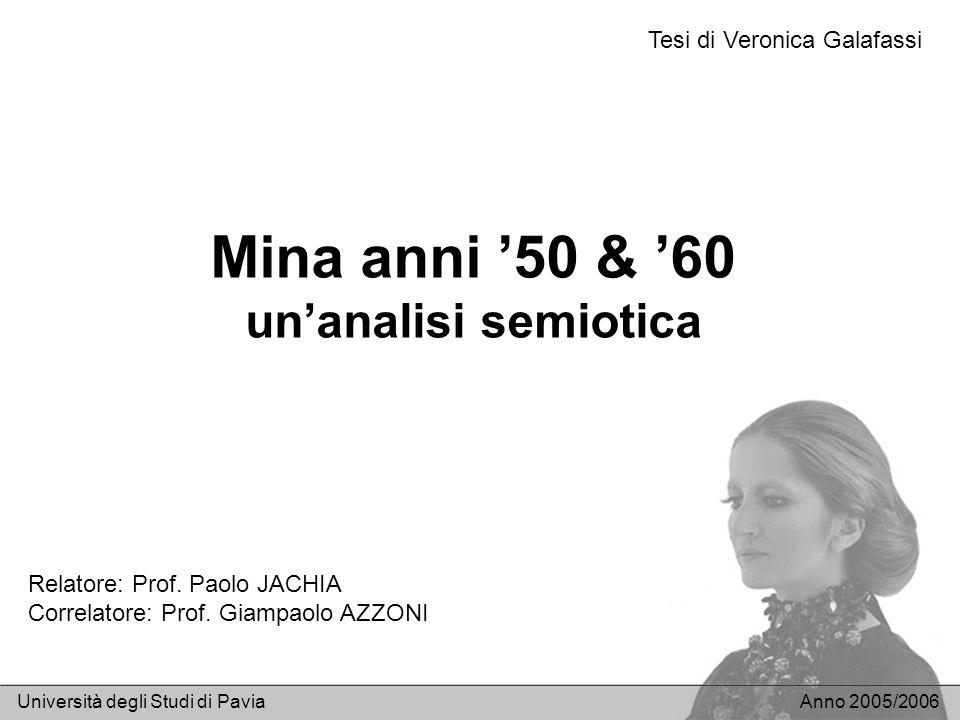 Mina anni '50 & '60 un'analisi semiotica