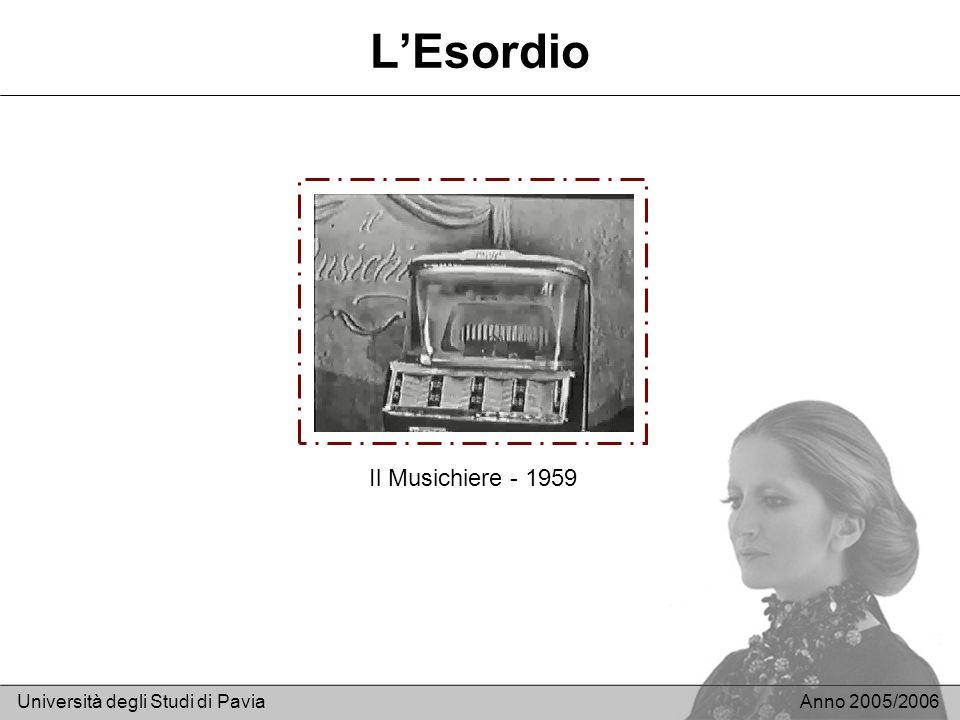 L'Esordio Il Musichiere - 1959 Università degli Studi di Pavia