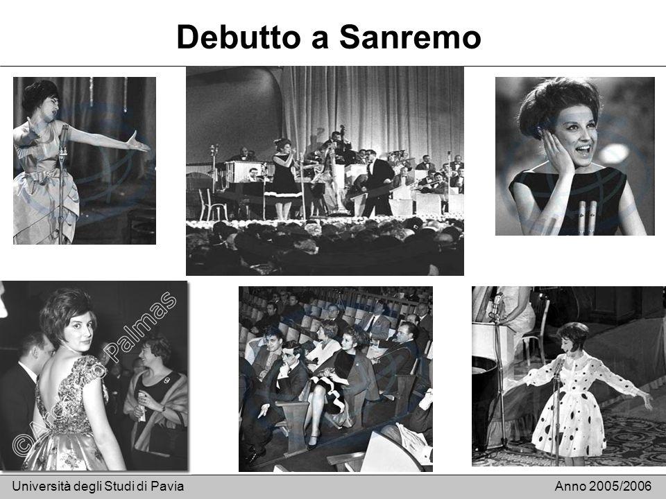 Debutto a Sanremo Università degli Studi di Pavia Anno 2005/2006