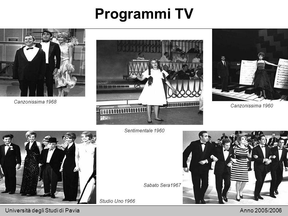 Programmi TV Università degli Studi di Pavia Anno 2005/2006