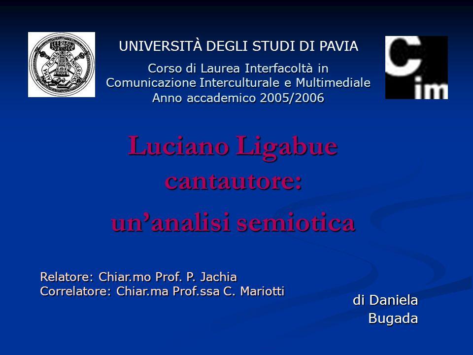 Luciano Ligabue cantautore: un'analisi semiotica