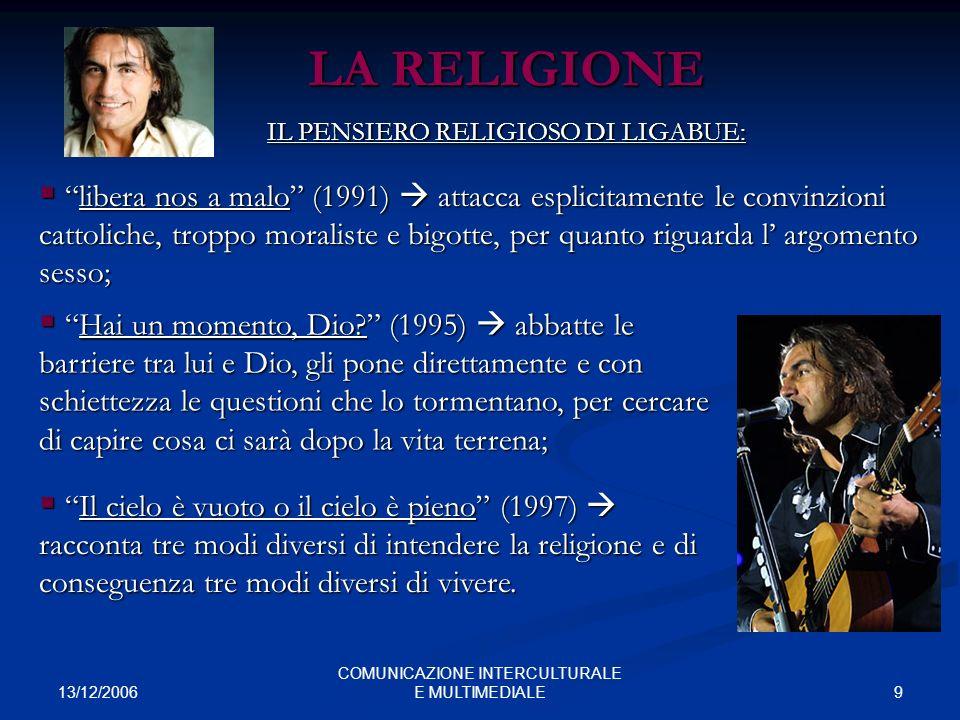 LA RELIGIONE IL PENSIERO RELIGIOSO DI LIGABUE:
