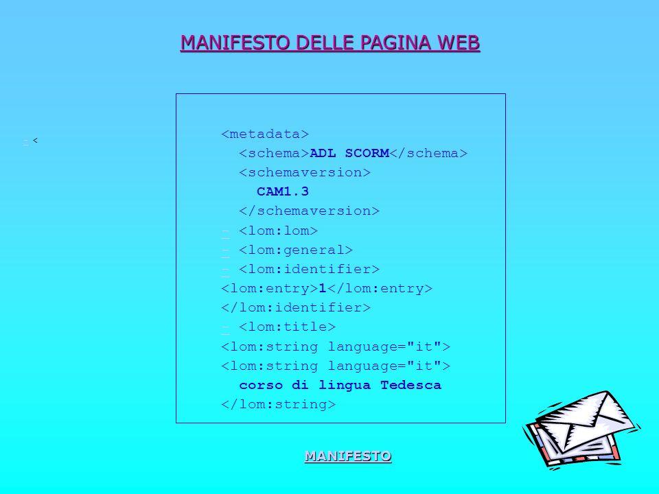 MANIFESTO DELLE PAGINA WEB