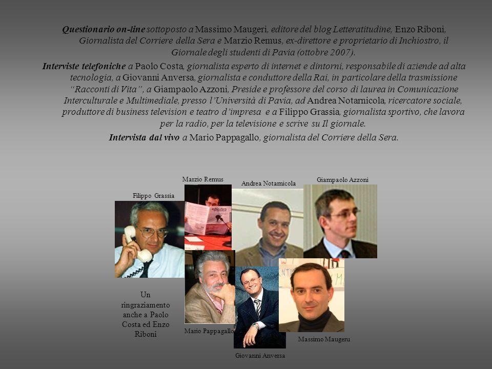 Un ringraziamento anche a Paolo Costa ed Enzo Riboni