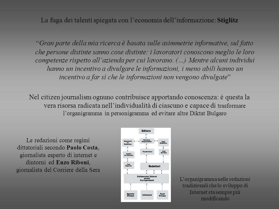 La fuga dei talenti spiegata con l'economia dell'informazione: Stiglitz