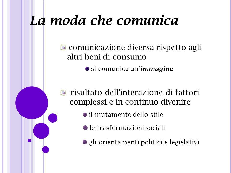La moda che comunica comunicazione diversa rispetto agli