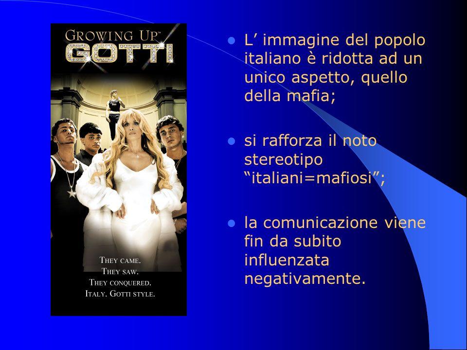 L' immagine del popolo italiano è ridotta ad un unico aspetto, quello della mafia;