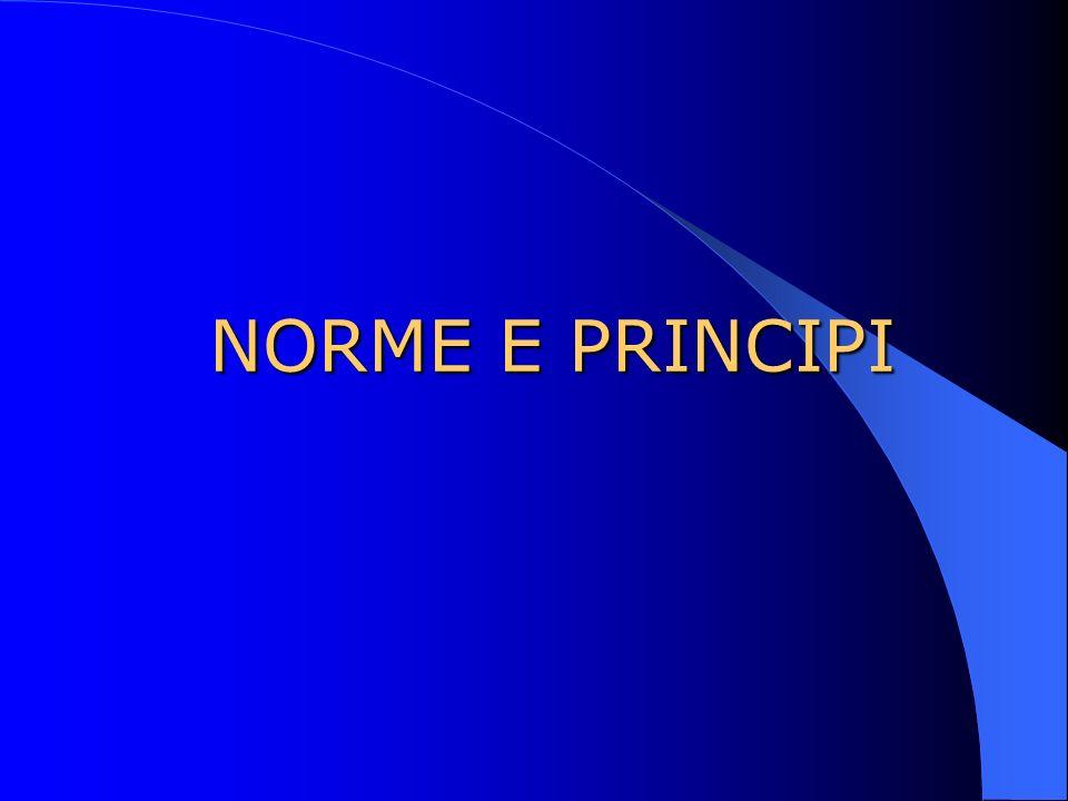 NORME E PRINCIPI