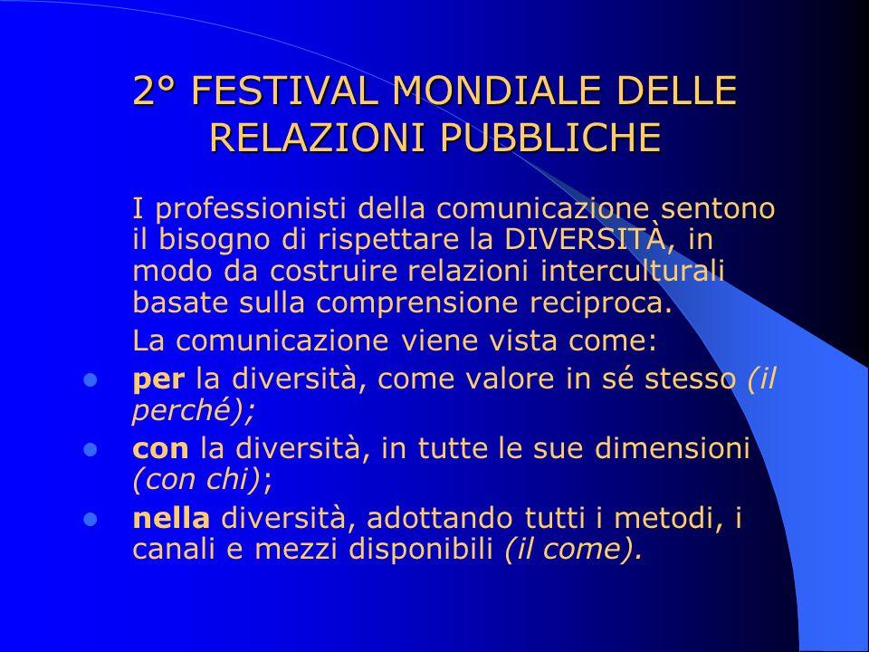 2° FESTIVAL MONDIALE DELLE RELAZIONI PUBBLICHE