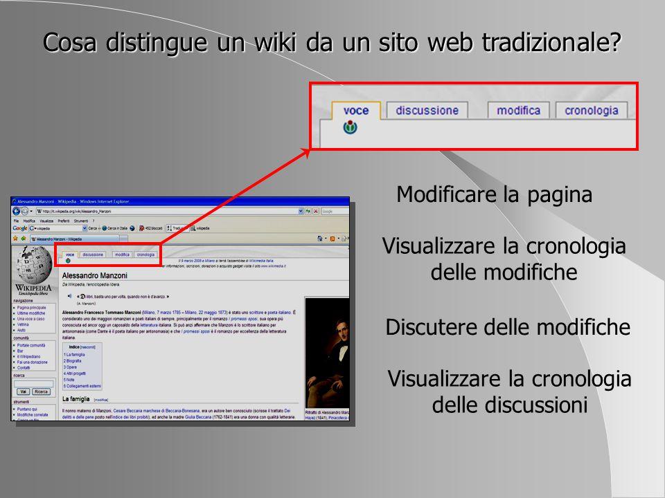 Cosa distingue un wiki da un sito web tradizionale