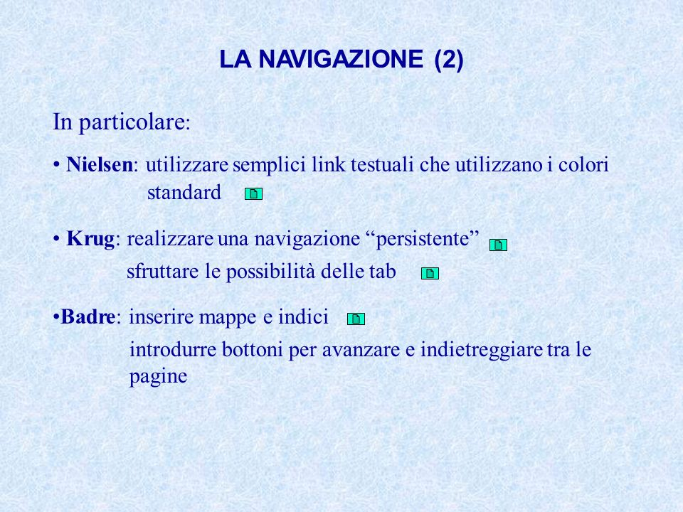 LA NAVIGAZIONE (2) In particolare: