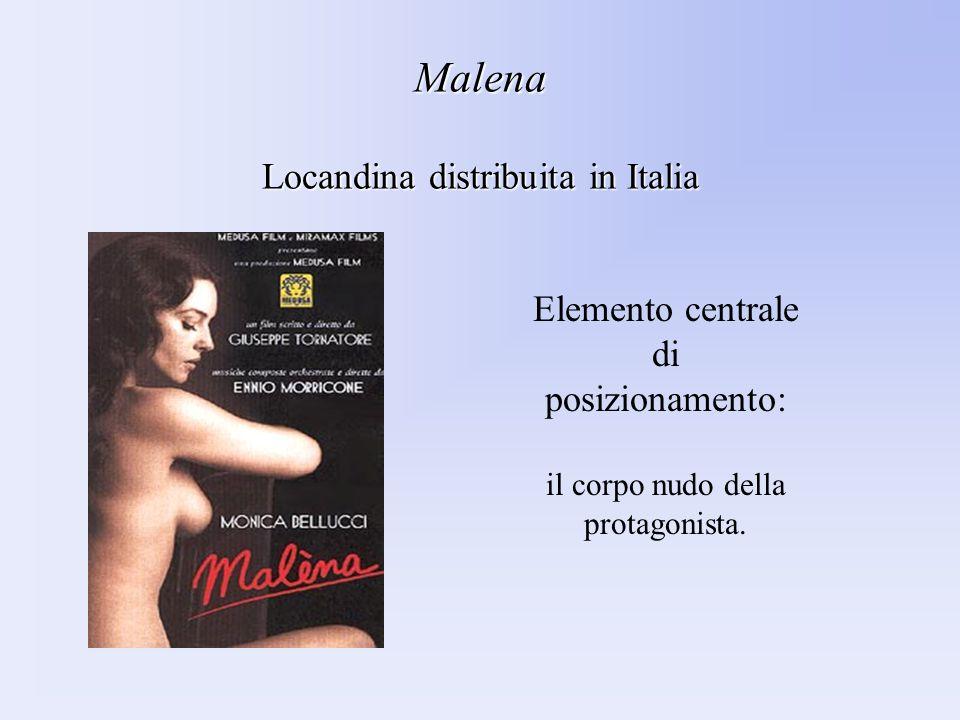 Malena Locandina distribuita in Italia